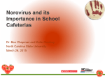 Norovirus and Its Importance in School Cafeterias