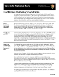 Yosemite National Park Hantavirus Pulmonary Syndrome