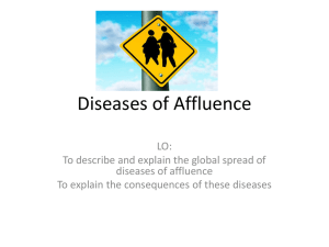 Diseases of Affluence - y8Geography-MrT