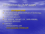 Introduction to OLAP cubes