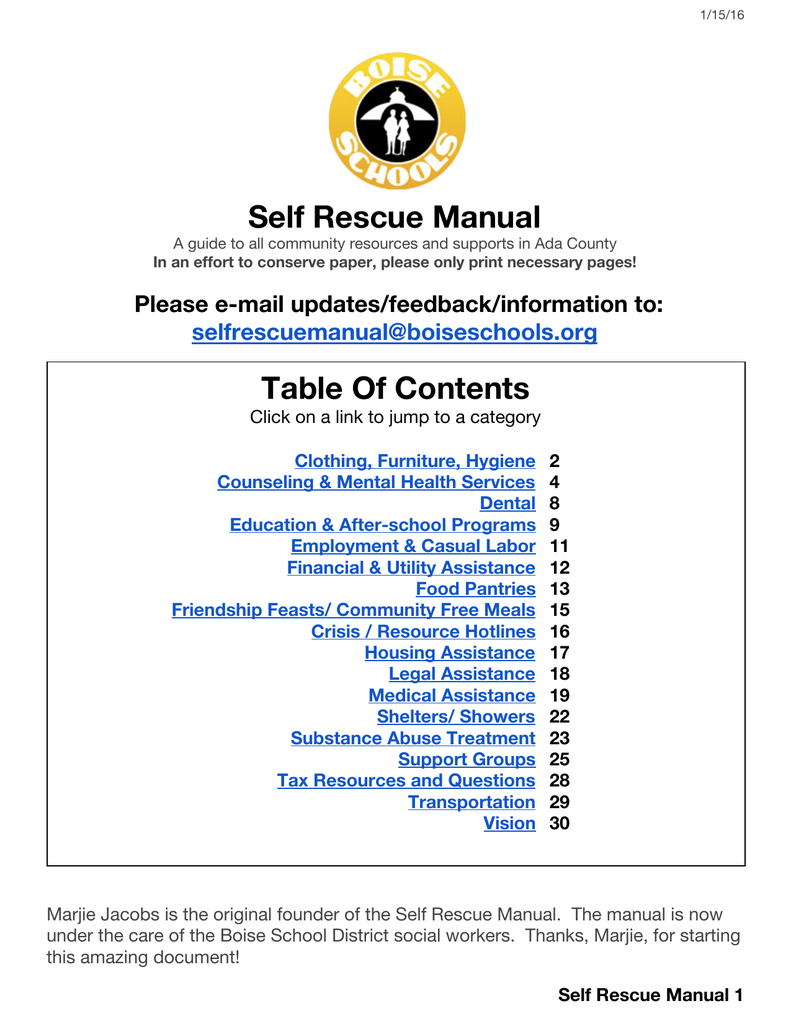 Community Resources Manual