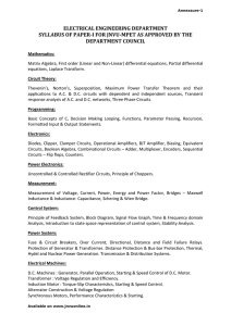 electrical engineering department syllabus of paper-i for jnvu