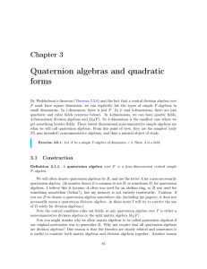 Quaternion algebras and quadratic forms