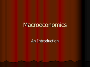 Macroeconomics: An Introduction