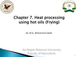 Heat processing using hot oils (Frying) - E-Learning/An