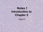 Notes 1 Introduction to Chapter 5