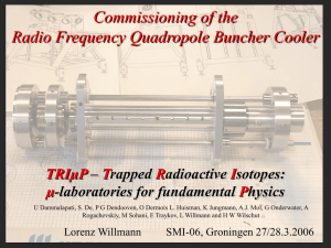 Commissioning of the Radiofrequency quadrupole cooler