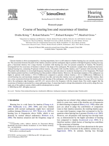 Course of hearing loss and occurrence of tinnitus