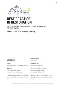 BEST PRACTICE IN RESTORATION