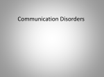Communication Disorders - MyPortfolio
