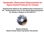 Systematic Observation Requirements for Space