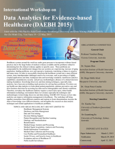 Data Analytics for Evidence-based Healthcare (DAEBH 2015)