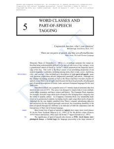 WORD CLASSES AND PART-OF