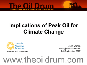 Peak Oil - Centre for Alternative Technology