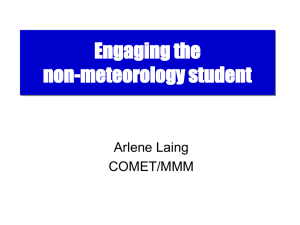 Engaging the non-meteorology students