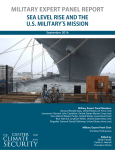 Military Expert Panel Report Sea Level Rise