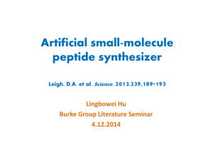 Artificial Small-Molecule Peptide Synthesizer