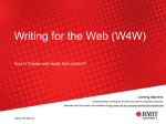 Writing for the Web (W4W)