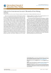 Editorial for International Journal of Biomedical Data Mining