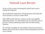 Network Layer - CIS @ Temple University