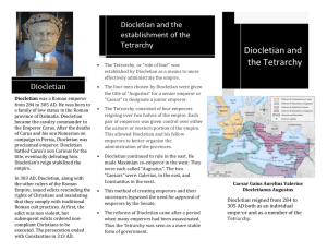 Diolcetian and the Tetrarchy