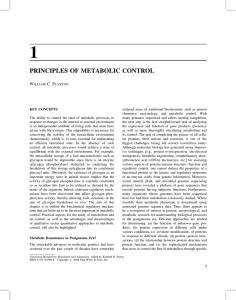 PRINCIPLES OF METABOLIC CONTROL