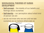 Sociological theories of human development