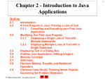 Chapter 2 - Introduction to Java Applications