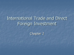 International Trade and Direct Foreign Investment