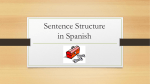 Sentence Structure and