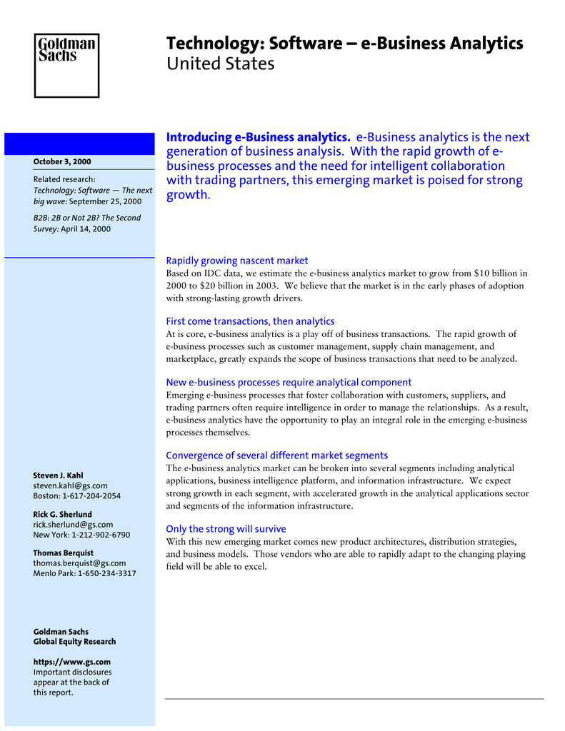 Technology Software E Business Analytics United States Unit 2 53 B2e Electronic Commerce