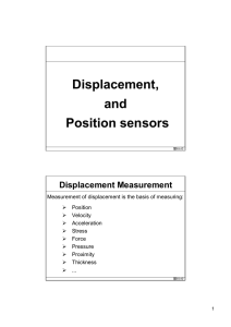 Resistive displacement sensors