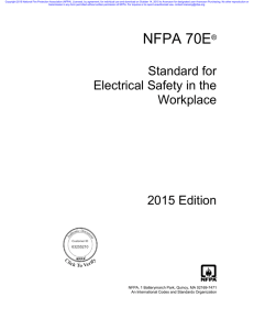 NFPA 70E (2015) – Standard for Electrical Safety in the