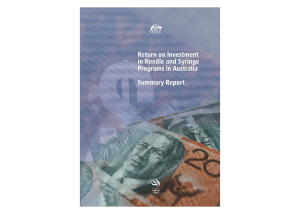 Return on Investment in Needle and Syringe Programs in Australia
