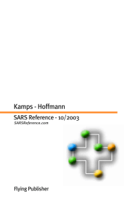 SARS Reference, October 2003, Third Edition