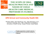 the scope of oral health practice and needs of child health care