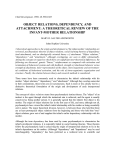 object relations, dependency, and attachment: a theoretical review