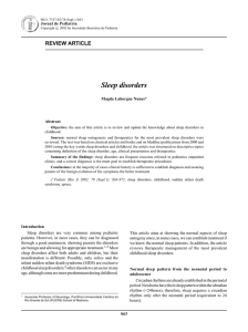 Sleep disorders - Jornal de Pediatria