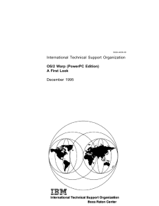 International Technical Support Organization OS/2 Warp (PowerPC