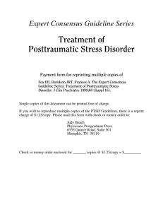 Expert Consensus Guideline Series: Treatment of Posttraumatic