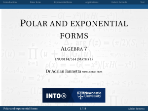Polar and exponential forms