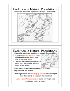 Evolution in Natural Populations Evolution in Natural