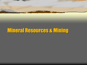 Mineral Resources Notes 11-12