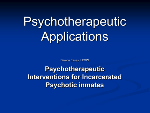 7. Forensic Mental Health: Psychotherpeutic