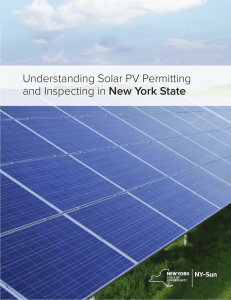 Understanding Solar PV Permitting and Inspecting in New York State