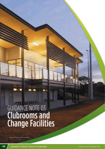 Clubrooms and Change Facilities