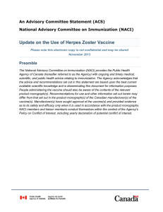 An Advisory Committee Statement (ACS)