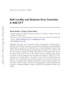 Bulk Locality and Quantum Error Correction in AdS/CFT arXiv