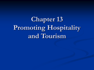 Chapter 13 Promoting Hospitality and Tourism Promotion and