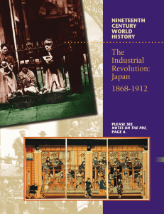The Industrial Revolution: Japan